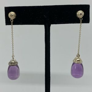 Tiffany & Co. 20 Carat Amethyst Drop Earrings